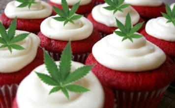 cupcake marihuana hoja