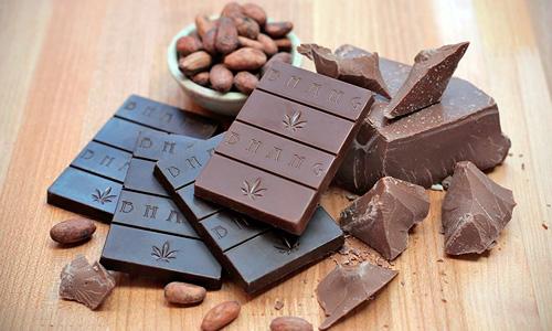 tabletas de chocolate de marihuana