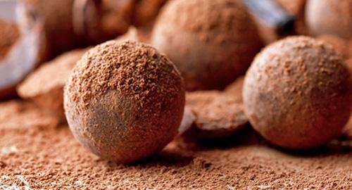 pelotas de chocolate